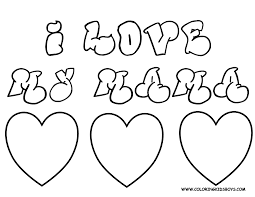 Small Picture I Love Mom Coloring Pages Coloring Pages Printable 7031