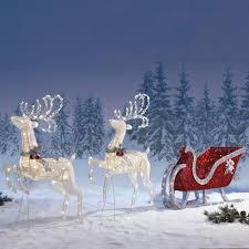 Reindeer Christmas Lights Outdoor Christmas Sleigh Outdoor Indoor Christmas Decoration Premium