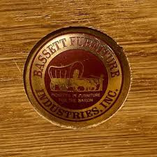 bassett furniture logo.  Bassett Walnut Dresser By Bassett Furniture 1960s On Furniture Logo