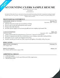 Account Clerk Resume Sample Of Clerical Resume Sample Administrative Awesome Accounting Assistant Resume