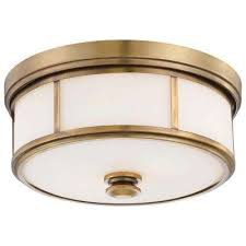 harbour point 2 light liberty gold flushmount