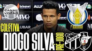Série A '19] Coletiva Diogo Silva   Pré-jogo Ceará SC X CR Vasco da Gama