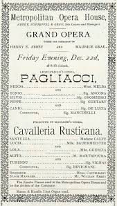 Chicago Resume Template Word Cavalleria RusticanaPagliacci at the Metropolitan Opera in NYC 78