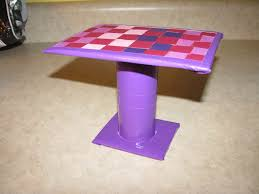 homemade barbie furniture. Homemade Barbie Furniture | The Dining Table Is Also Just Cardboard, Duct Tape, Toilet A