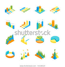 Free Charts And Graphs Charts Graphs Icon Set 3d Isometric Stock Vector Royalty