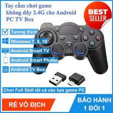 Tay cầm chơi game PC Laptop Điện Thoại TV Android TV Box - Tay cầm chơi game  không dây USB Bluetooth 2.4G -dc283   Tay Cầm Chơi Game