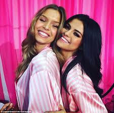 victoria s secret performance selena gomez mingles with models backse at the vs fashion show
