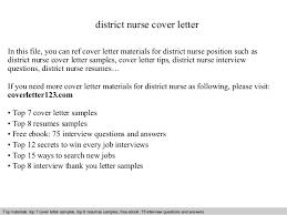 Cover Letter Examples Nursing Jobs District Nurse Cover Letter