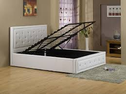 black or white furniture. GFW Hollywood Gas Lift Storage Faux Leather Frame In Black Or White From £209, Beds Direct Warehouse, Gainsborough, Lincolnshire Furniture A