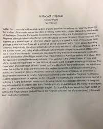 "update this is the student s controversial essay emulating the  update this is the student s controversial essay emulating the satire of swift s ""a modest proposal"" ethics alarms"