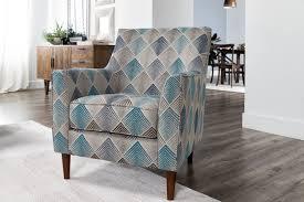 Sven Denim Accent Chair Blue Geometric 275 Accent