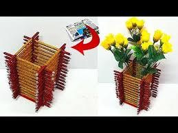 News Paper Flower Vase How To Make Beautiful Flower Vase Guldasta From Newspaper At