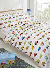 100 cotton kids duvet cover set 200 thread count cars traffic planes trucks trains double duvet cover 2 pillowcases co uk kitchen home