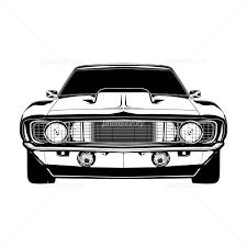 丸目のアメリカ車の白黒イラスト イラスト素材 3085259 フォト