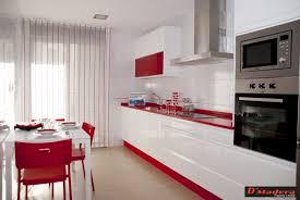Servicios Carpinter A D Madera Cocinas Muebles   Cocinas Rojas Y Blancas .