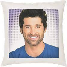 Stocking Fillers Patrick Dempsey Cushion Pillow - Pop Art - 100% Cotton -  Available with or without filling pad - 40x40cm (Cover and filling pad):  Amazon.co.uk: Kitchen & Home