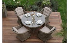 maze rattan winchester 4 seater round table dining set dining set s