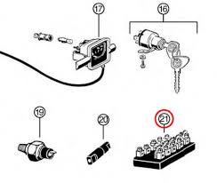 vw type 1 2 bug to 1953 bus to 1960 6 fuse fuse box screw terminals