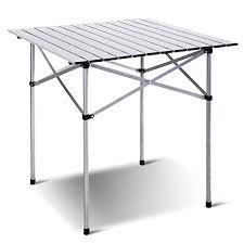 aluminum picnic tables. Giantex Roll Up Portable Folding Camping Square Aluminum Picnic Table W/Bag (27- Tables