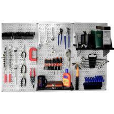 wall control 32 in x 48 in metal pegboard standard tool storage kit with