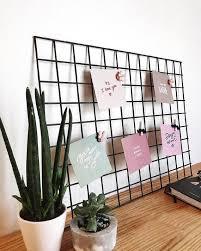 black metal grid wall panel home office