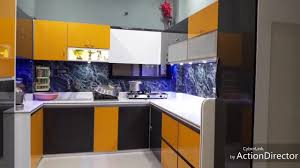 Modular Kitchen In Pvc Board And Acrylic Board
