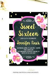 Free Invitations Maker Online Sweet 16 Invitation Maker Invitation Cards