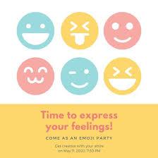 Party Invitaion Templates Customize 4 000 Emoji Party Invitation Templates Online Canva
