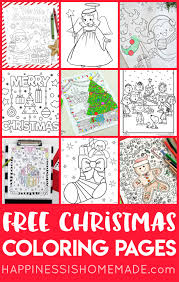 Print out coloring in sheet for childrens. Free Christmas Coloring Pages For Adults And Kids Happiness Is Homemade