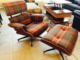 Eames Chair With Ottoman Tartan Fabric Eames Lounge Chair And Ottoman Be Fabulous