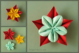 Origami Flower Paper How To Make An Origami Star Flower And Variations