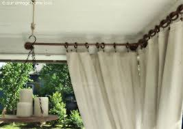 Back/Side Porch Ideas For Summer and An Industrial Pipe Curtain Rod How To