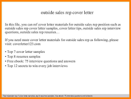 Best Solutions Of Cover Letter Examples Outside Sales Representative