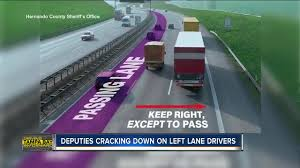 Cracking Down: Left-hand lane is for passing, drivers who don't move over  could be ticketed