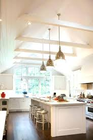 vaulted ceiling with exposed beams lighting kitchen traditional cup pulls inset chandelier bedroom ideas wit