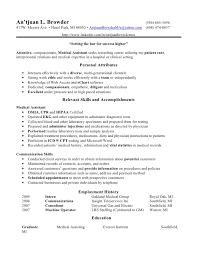 medical assistant resume samples medical assistant resume samples easy sample occupational examples free sample of a medical assistant resume
