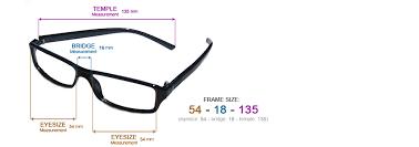 Sunglasses Frame Size Chart Find Your Frame Size Alexander Fashion Shop