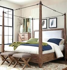 King Canopy Bed Frame King Canopy Bed Frame Smoky Acacia Cal King ...