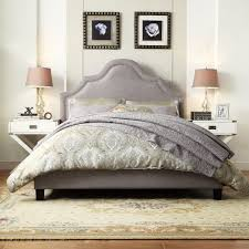 Fletcher Linen Nailhead Arch Curved Upholstered Full Bed by iNSPIRE Q Bold  - Free Shipping Today
