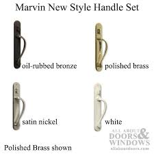 marvin active keyed sliding door handle set hand applied oil rubbed brass