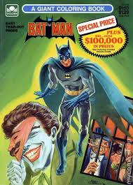 batman a giant coloring book sc 1989 golden 1 1st