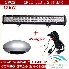 studebaker wiring harness 126w 20inch cree flood spot combo beam led work light bar wiring harness us