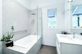 tile shower tub combo polished chrome jasper basin faucet towel rack stand grey walk in design for