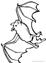 Bat Coloring Pages Free At Getdrawingscom Free For Personal Use