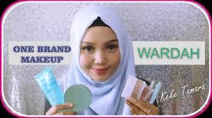 wardah one brand makeup tutorial natural makeup by keke tamara