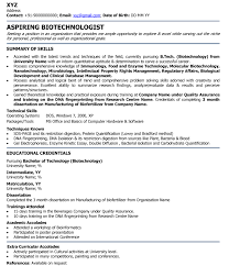 Bioinformatics Resume Sample Unique Sle Resume For Internship In Biotechnology Resume Ixiplay Free