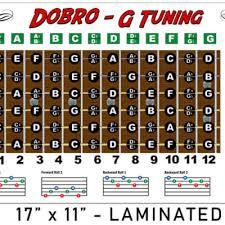Dobro Chord Chart Dobro G Tuning Resonator Chord Poster Chart Reverb