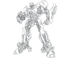 Transformers Bumblebee Coloring Page Transformers Bumblebee Coloring