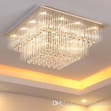 modern crystal chandelier k9 crystal light square led pendant lamp creative fashion stairs lamp living room lights led ceiling light fixture pendant