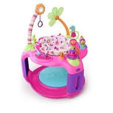 Pink Baby Bouncer Activity Adjustable Girls Infant Jumper Learning ...